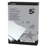 5 Star Copier Paper Smooth Ream-Wrapped 80gsm A4 High White [500 Sheets]