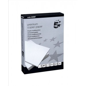 5 Star Premier Copier Paper Smooth 80gsm 500 Sheets per Ream A4 High White