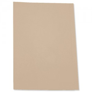 5 Star Square Cut Folder Recycled Pre-punched 180gsm Foolscap Buff [Pack 100]