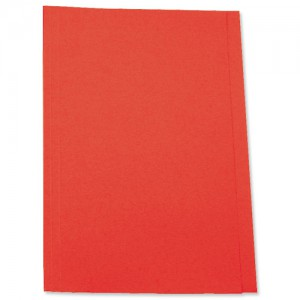 5 Star Square Cut Folder Recycled Pre-punched 180gsm Foolscap Red [Pack 100]