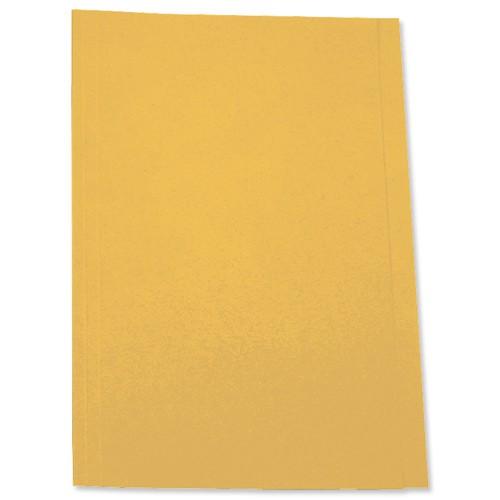 5 Star Square Cut Folder 180g Fcap Yllow