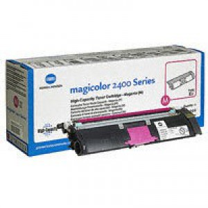 Konica Minolta Magicolor 2430DL/2400W/2500W Toner Cartridge High Capacity Magenta 1710589-006
