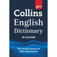 Collins Gem English Dictionary With Colour Headwords In Vinyl Cover Code 9780007290338