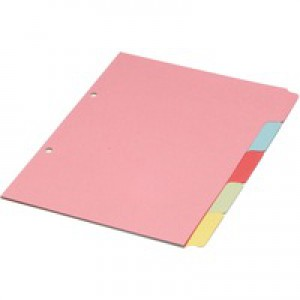 Concord Subject Dividers 230 Micron 5-Part A5 Ref 70599/J5 [Pack 20]