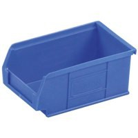 Container Bin Heavy Duty Polypropylene W165xD100xH75mm Blue [Pack 20]