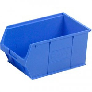 Container Bin Heavy Duty Polypropylene W350xD205xH182mm Blue [Pack 10]