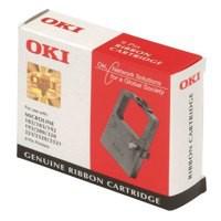 OKI Ribbon Cassette Fabric Nylon Black [for 300 Series-24 PIN-380-385 6-390 1-3390] Ref 09002309