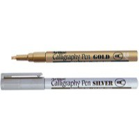 Artline Calligraphy Marker Gold/Silver Pack of 6 EK-993-W6