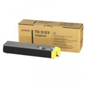 Kyocera TK-510Y Laser Toner Cartridge Page Life 8000pp Yellow Ref 1T02F3AEU0