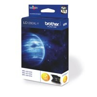 Brother Inkjet Cartridge High Yield Page Life 1200pp Yellow Code LC1280XLY