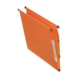 Elba Linking Lateral File Kraft 210gsm 30mm Square Base 330mm Orange Pack 25