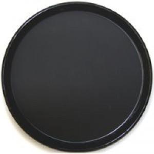Tray Non Slip Polypropylene Dishwasher Safe Round Diameter 300mm Black