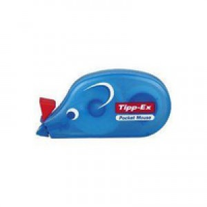 Tipp-Ex Pocket Mouse Correction Tape Roller Disposable 4.2mmx9m Ref 8207891 [Pack 10]