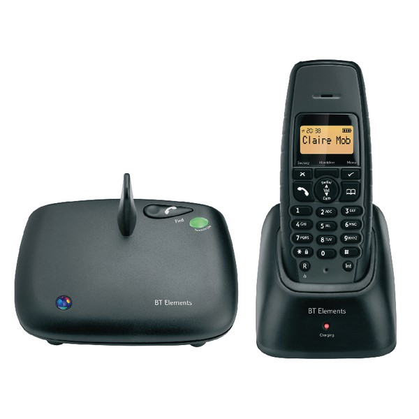 BT Elements Telephone Cordless with Keypad Lock 1000m Range 50 SMS Store 50 Speed Dials Ref Elements