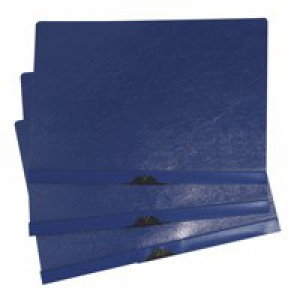 5 Star Clip Folder 3mm Spine for 30 Sheets A4 Blue [Pack 25]
