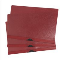 5 Star Clip Folder 6mm Spine for 60 Sheets A4 Red [Pack 25]