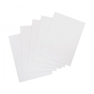 5 Star Binding Covers 250gsm Plain A4 Gloss White [Box 100]