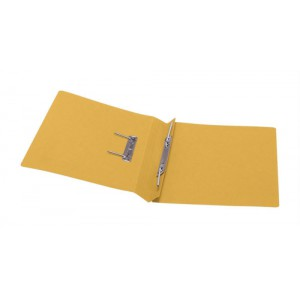 5 Star Transfer Spring File 315gsm 38mm Foolscap Yellow [Pack 50]