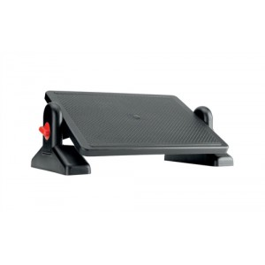 Office Footrest ABS Plastic Easy Tilt H115-145mm Platform 415x305mm