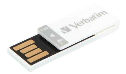 Verbatim Clip-it USB Drive 4GB Wht 43900