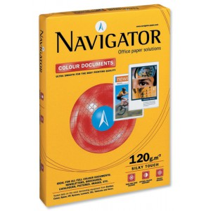 Navigator Colour Documents Paper Ultra Smooth 120gsm A4 White Ref NCD1200009 [250 Sheets]