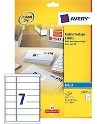 Avery Smartstamp Labels Inkjet All-in-One 14 per Sheet 63.5x38mm/135x38mm Ref J5102-25 [350 Labels]