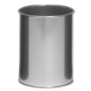 Durable Bin Round Metal Capacity 15 Litres Silver Ref 3301/23