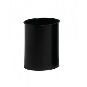 Durable Bin Round Metal Capacity 15 Litres Black Ref 3301/01