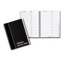 Telephone and Fax Index Book Wirebound Board Cover A5