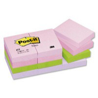 Post-it Colour Notes Pad of 100 Sheets 38x51mm Joyful Palette Rainbow Colours Ref 653FL [Pack 12]