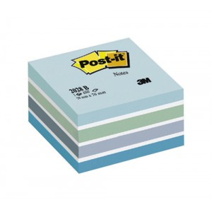 Post-it Note Cube Pad of 450 Sheets 76x76mm Pastel Blue Ref 2028B