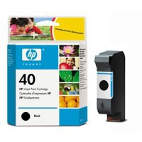 HP 40 Inkjet Cart Black 51640AE