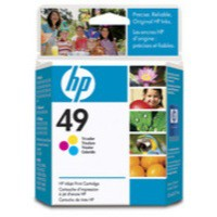 Hewlett Packard [HP] No. 49 Inkjet Cartridge Page Life 350pp 22.8ml Colour Ref 51649AE