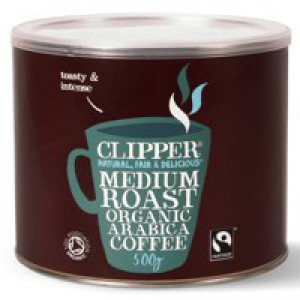 Clipper Fairtrade Instant Coffee Organic Granules Freeze Dried Tin 500g Ref A06762