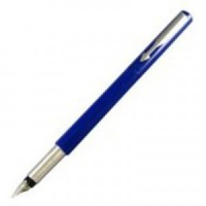 Parker Vector Standard Fountain Pen Durable with Stainless Steel Nib and Trim Blue Code S0705330
