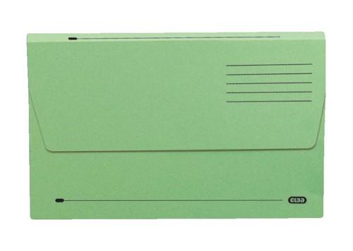 Elba Document Wallet Half Flap 285gsm Capacity 32mm A4 Green Ref 100090245 [Pack 50]
