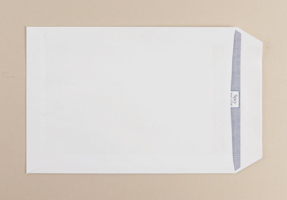 Spey White Wove Envelopes C5 229x162mm 90Gm2 Window 25Up 60Lhs Self Seal Boxed 500