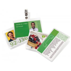 GBC Laminating Pouches Premium Quality 2x125 Micron for Badge Card [67x99mm] Ref 3743177 [Pack 100]