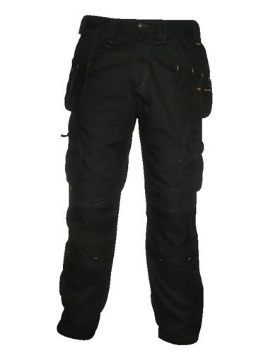 Dewalt Low Rise Trousers Metal-zip Holster-pockets Waist 40in Leg 31in Black Ref DWC17/001 31x40