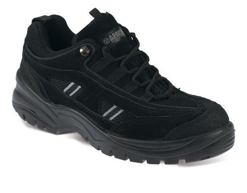 Sterling Apache Trainers Steel-toe Scuff Trim Shock-absorbent Chemical-resist Size 9 Black Ref AP302SM9
