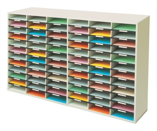 Literature Sorter Melamine-laminated Shell 72 Compartments [2x36 Sorters]