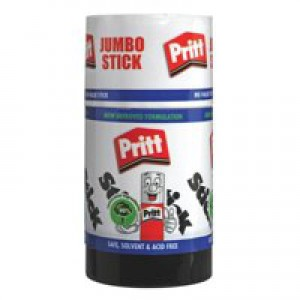 Pritt Stick Glue Solid Washable Non-toxic Jumbo 95g Ref 45552966 [Pack 6]