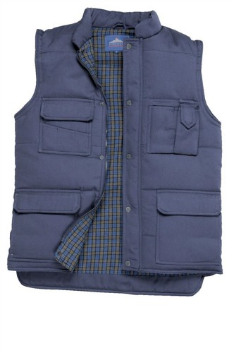 Portwest Body Warmer Polyester & Cotton 2-Pockets Navy Extra Large Ref S414NAVYXLGE