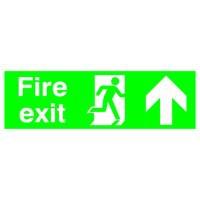 Niteglo Fire Exit/Arrow Up Sign PSPA-certified Polypropylene W450xH150mm Ref FX04711M