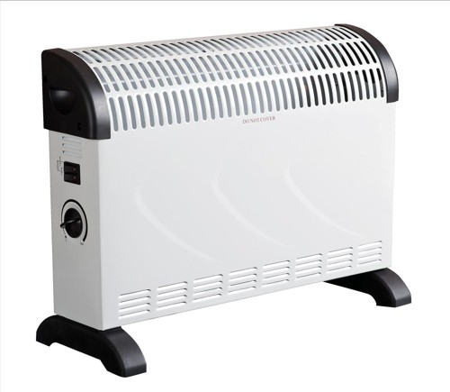 Connect-IT Convector Heater Electric 2 Heat Settings 2kW White and Black Ref ES139