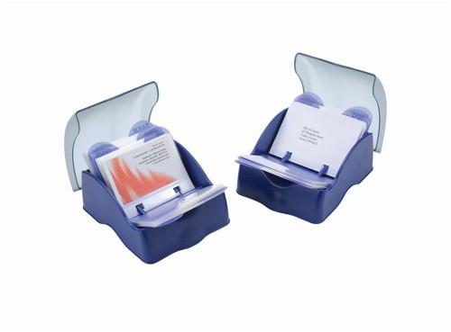 Rotadex MiniMate Card File Closed 150x A7 Cards A-Z Index Black Ref MMATECA7/150