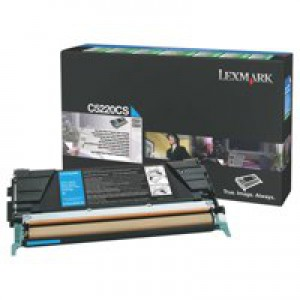 Lexmark Laser Toner Cartridge Return Program Page Life 3000pp Cyan Ref C5220CS