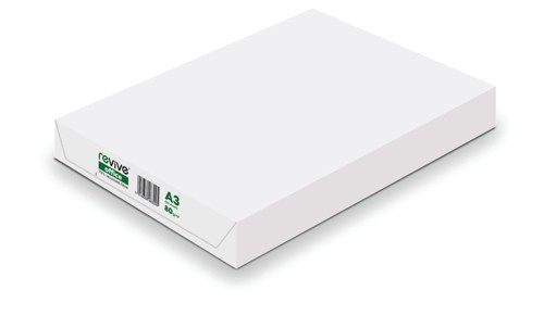 Office Copier Paper Multifunctional Recycled Ream Wrapped 80gsm A3 White [500 Sheets]