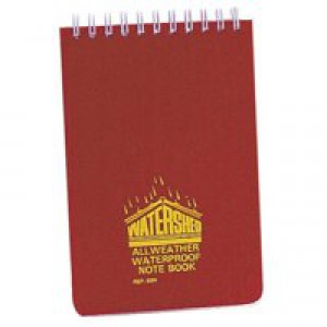 Chartwell Watershed Waterproof Book Wirebound Ruled 50 Leaf 101x156mm Code 2291