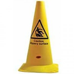 JSP Safety Cone PVC Caution Slippery Surface H500mm Ref JAR044-000-218